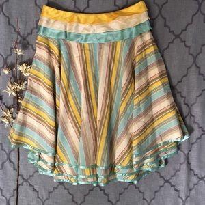 Fun & Full Tiered Silk Blend Odille Skirt